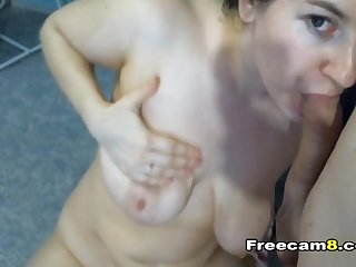 Hot Babe Working Hard on a Big Cock