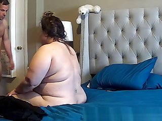 bbw upset during anal caught on IP cam