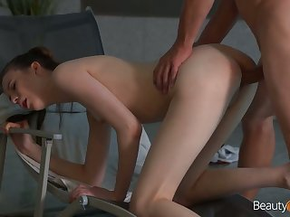 Quite leggy pool gal Sunny Honey is brutally fucked from behind