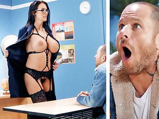 Sexy teacher hardcore fucks schoolboy at school