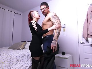 Two well endowed twins fuck furiously slutty emo girlfriend Lydya Moser