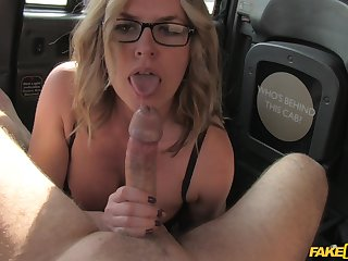 Busty blonde girl gives amazing blowjob and gets fucked hard