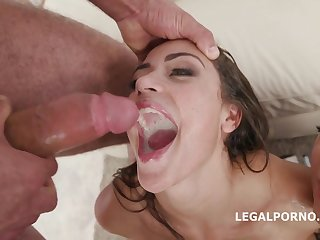 Young Avi Love and Kristy Black - group gangbang orgy with mouthful cumshots
