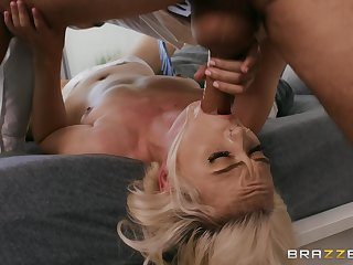 Naked blonde doll gagged then fucked in brutal manners