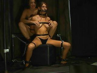 Lesbian tied nipple orgasm