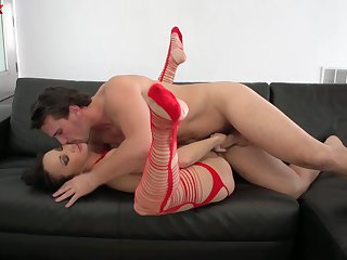 Man's energized dick shows this perfect babe the best orgasms