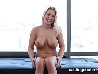 Big titties amateur blonde casting