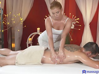 Erotic fucking on the massage table with a hot ass masseur