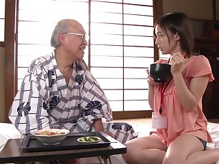 Wife Aimi Yoshikawa teases with her large boobs and gets fucked