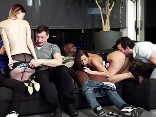 Group sex is great with Amirah Adara and Misha Cross in the mix