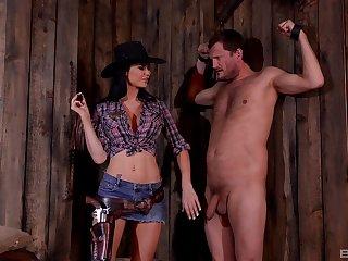 Kinky torture session by dominant brunette Jasmine Jae. HD