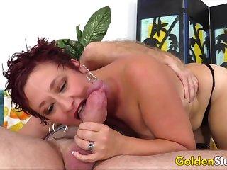 Golden Slut - Served Orally by an Older Beauty Compilation