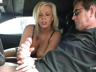 Mature works magic with her hands while on the road