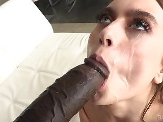 Black guy with a massive dick fucks wet pussy of Jill Kassidy